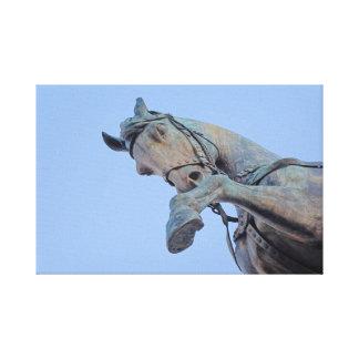 Impressão Em Tela Roma Italia - cavalo de bronze