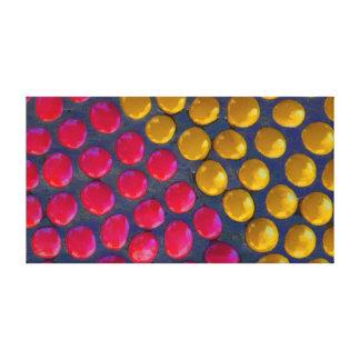 Impressão Em Tela Rosa e amarelo
