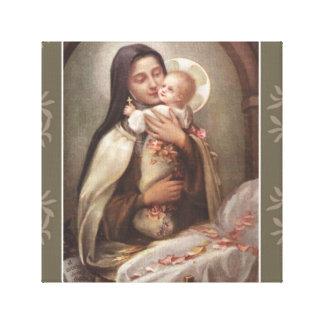 Impressão Em Tela Rosas do rosa do comedoiro de Jesus do bebê do St.