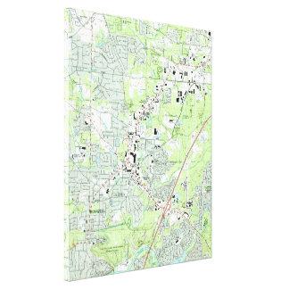 Impressão Em Tela Roswell Geórgia Mapa (1992)