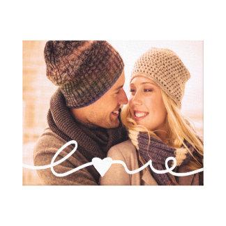 Impressão Em Tela Roteiro indicado por letras do amor da mão feita