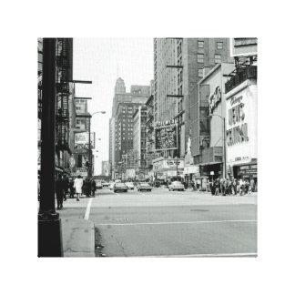 Impressão Em Tela Rua oriental do teatro dos anos 60 de Chicago