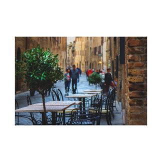 Impressão Em Tela Ruas de San Gimignano