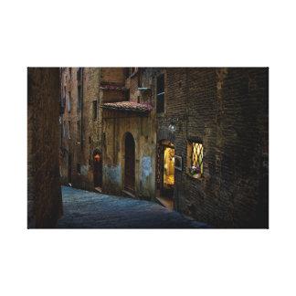 Impressão Em Tela Ruas de Siena