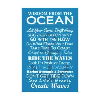 Impressão Em Tela Sabedoria do oceano
