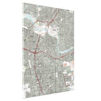 Impressão Em Tela Sacramento Califórnia Mapa (1992)
