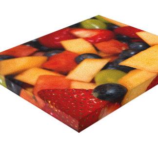 Impressão Em Tela Salada de fruta com as uvas dos mirtilos das
