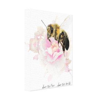Impressão Em Tela Salvar a abelha! Salvar o mundo! Abelha bonito