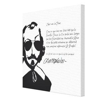 Impressão Em Tela Samuel Champlain Hipster texto do futuro+lunetas