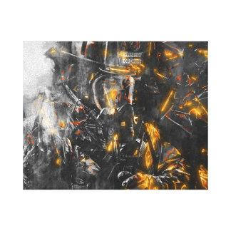 Impressão Em Tela Sapador-bombeiro - coragem para lutar o animal