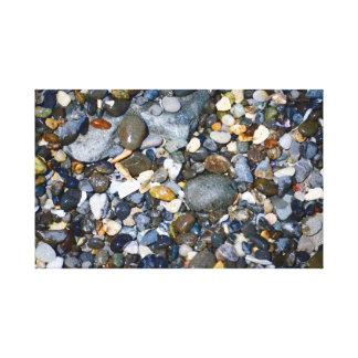 Impressão Em Tela Seixos em uma praia