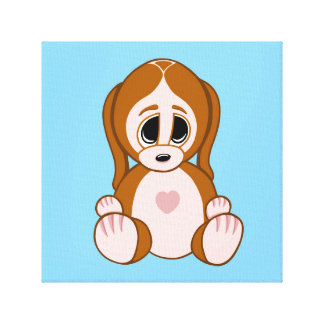 Impressão Em Tela Seixos o filhote de cachorro