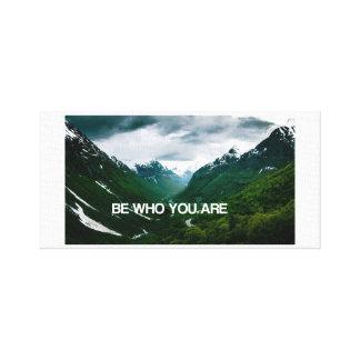 Impressão Em Tela Seja verdadeiro a quem você é