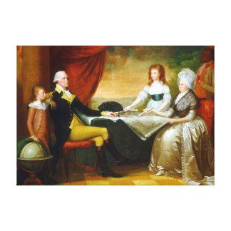 Impressão Em Tela Selvagem de Edward a família de Washington