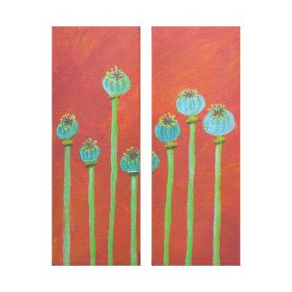 Impressão Em Tela Sementes de papoila pintadas