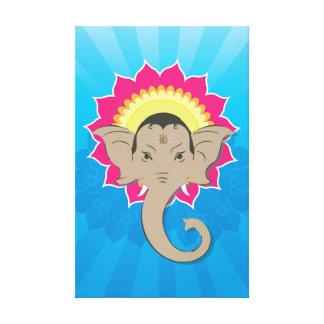 Impressão Em Tela Senhor Ganesha Digital Ilustração com arte da
