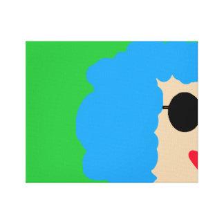 Impressão Em Tela Senhora nos óculos de sol