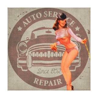 Impressão Em Tela Serviço do automóvel do vintage