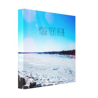 Impressão Em Tela Seu do texto rio congelado grande aqui |