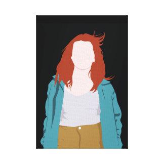 Impressão Em Tela Silhueta da forma da cor (Redhead)