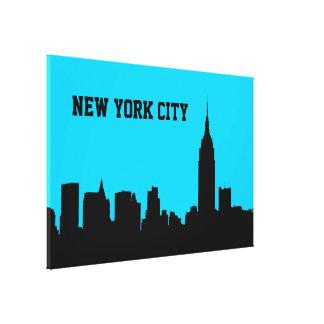 Impressão Em Tela Silhueta da skyline de NYC, estado Bldg #1 do