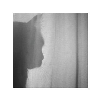 Impressão Em Tela Silhueta do gato