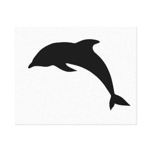 arte em canvas golfinho desenhos zazzle com br