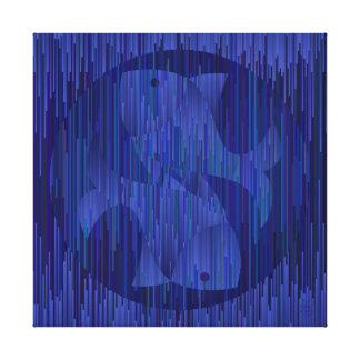Impressão Em Tela Sinal da astrologia dos peixes. Estilo geométrico.