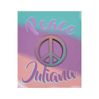 Impressão Em Tela Sinal de paz personalizado