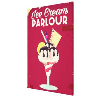 Impressão Em Tela Sinal velho do vintage da sala de estar do sorvete