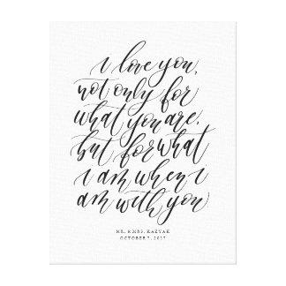 Impressão Em Tela Sinal Wedding personalizado das citações do amor