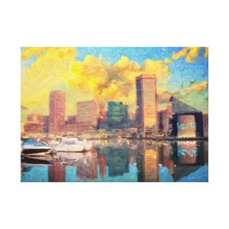 Impressão Em Tela Skyline de Baltimore Maryland