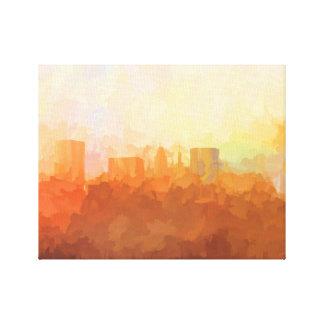 Impressão Em Tela SKYLINE de BALTIMORE, MARYLAND nas Nuvem-Canvas