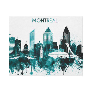 Impressão Em Tela Skyline de Montreal