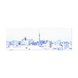 Impressão Em Tela Skyline de Toronto
