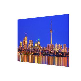 Impressão Em Tela Skyline do centro de Toronto na noite