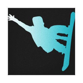 Impressão Em Tela snowboarder do azul do inclinação