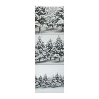 Impressão Em Tela Sob a neve. Abeto vermelho. Aproximação
