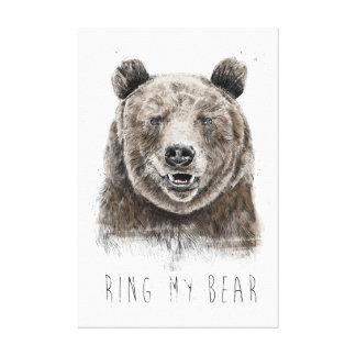 Impressão Em Tela Soe meu urso