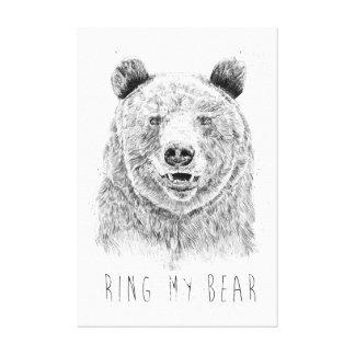 Impressão Em Tela Soe meu urso (bw)