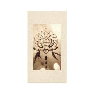 Impressão Em Tela Sonhos de Lotus
