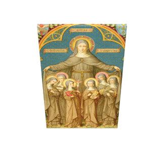 Impressão Em Tela St. Clare de Assisi & da extra grande das freiras