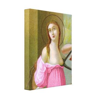 Impressão Em Tela St. cor-de-rosa Agatha (M 003)
