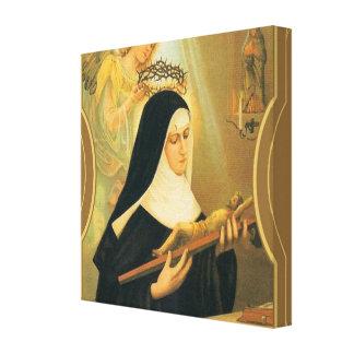 Impressão Em Tela St. Rita de Cascia w/Crown do anjo dos espinhos