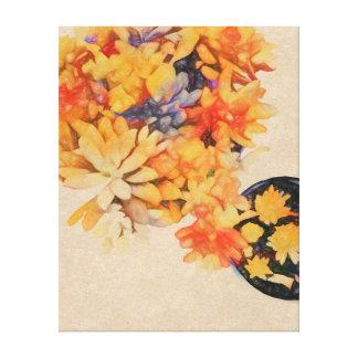 Impressão Em Tela Succulents dourados