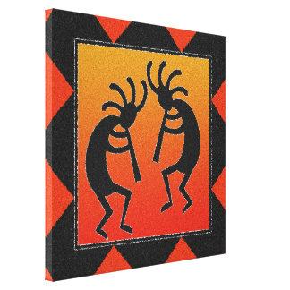 Impressão Em Tela Sudoeste que dança o design de Kokopelli