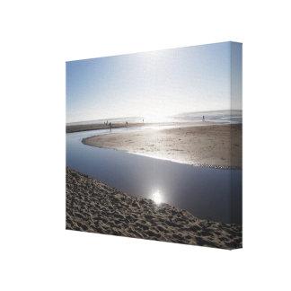 Impressão Em Tela Sun na costa de Oregon
