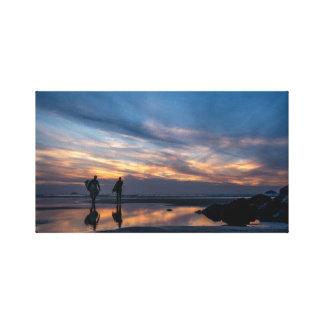 Impressão Em Tela Surfistas do por do sol