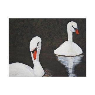 Impressão Em Tela Swans