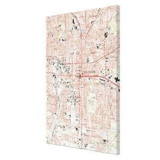 Impressão Em Tela Tallahassee Florida Mapa (1999)